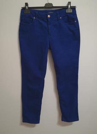 Шикарное качество! джинсы бойфренды синий электрик, американский бренд lands`end (m-l)