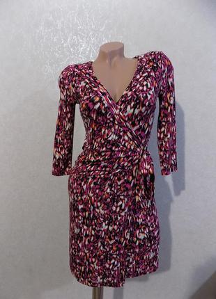 Платье трикотажное стрейчевое на запах фирменное cynthia rowley размер 42