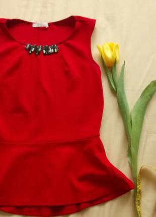 Шикарная блуза c баской promod!