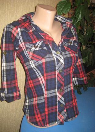 Модная рубашка в клетку new look размер 8