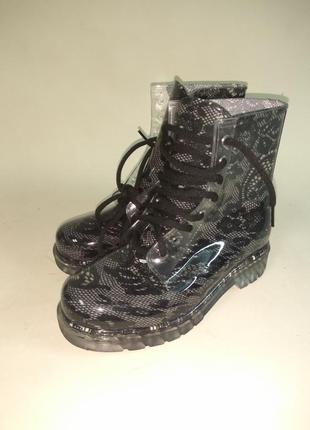 Резиновые ботинки от дождя ,прозрачные,37