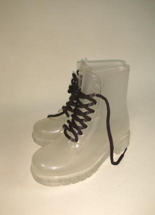 Резиновые ботинки от дождя ,прозрачные,36