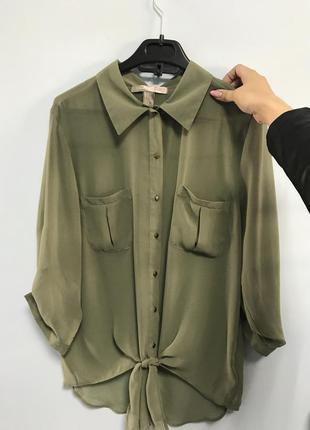 Блузка цвета хаки, милитари forever 21