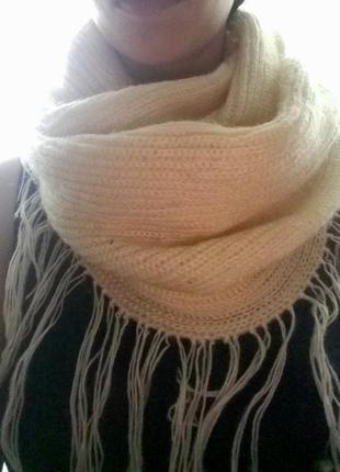 Теплый зимний шарф