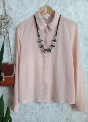 Пудровая блуза с кружевной спинкой р. 46-48 от forever