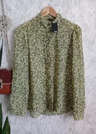 Прелестная блуза в бабочках с застежкой на спинке р. 46 от next