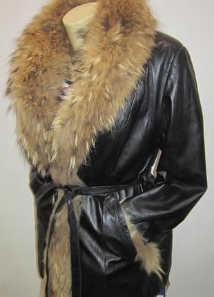 Кожана куртка зима-осінь р.xl,42а