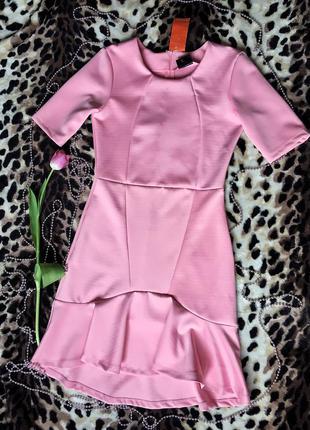 Новое платье vila clothes ,розовое ,размер м ,очень женственное и стильное