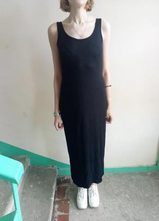 Длинное платье майка