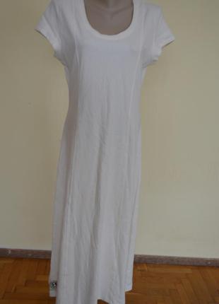 Шикарное платье длинное молочного цвета из котона