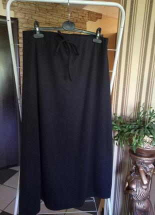 Скидки 50%!!!длинная юбка из плотного трикотажа 52-54