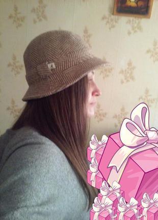 Классная шляпа от kangol (шерсть)