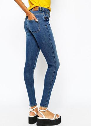 Супер узкие джинсы скинни gina tricot высокая посадка