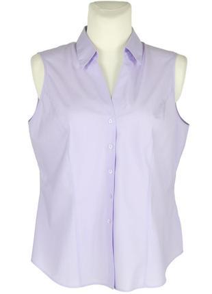 Сиреневая блуза-безрукавка