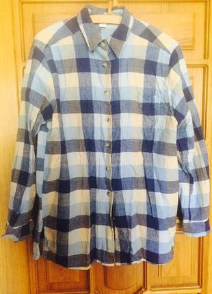 Рубашка в клеточку zara размер м-l