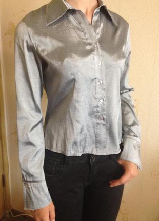 Серебристая рубашка