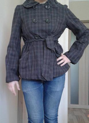 Пальто в клітинку, з пояском new look /при купівлі 3х і більше речей знижка 20%!!