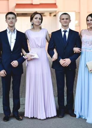 Платье лиловое выпускное, вечернеее