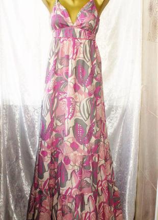 Абсолютно новое очень красивое платье в пол сарафан,  100% хлопок, р.48