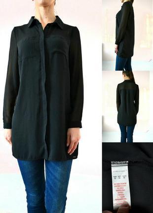 Базовая удлиненная блуза с шифоном