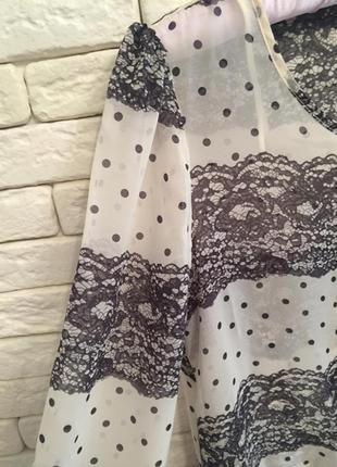 Оригинальная шифоновая блузочка