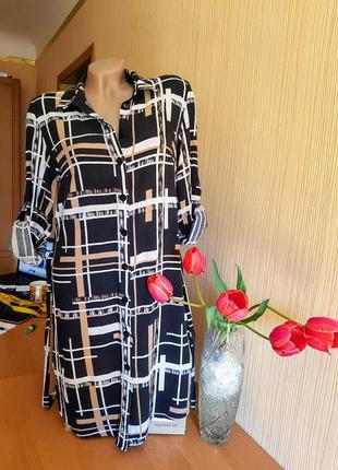 Платье-рубашка 46р
