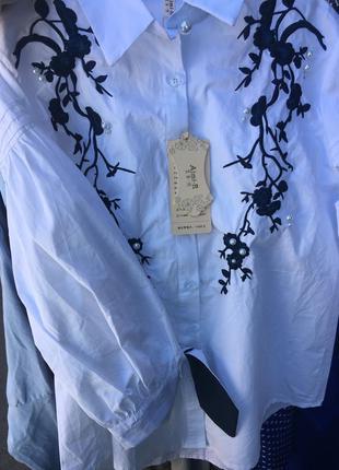 Шикарная рубашка с вышивкой ❗