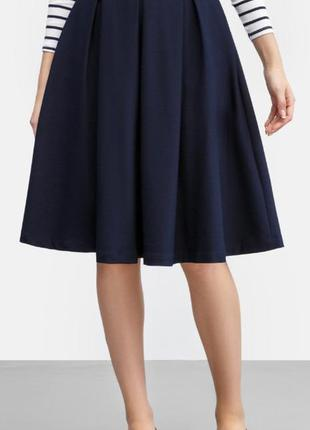 Миди-юбка со складками