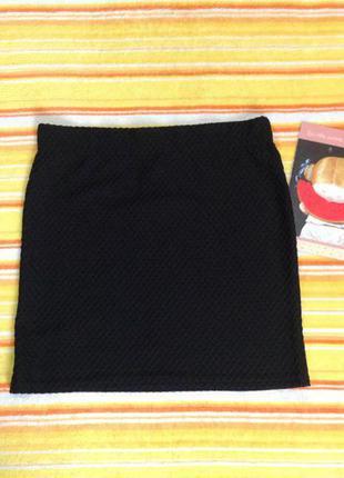 Фактурная юбка на резинке