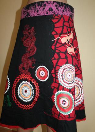 Дизайнерская юбка от desigual разм. м. made in india