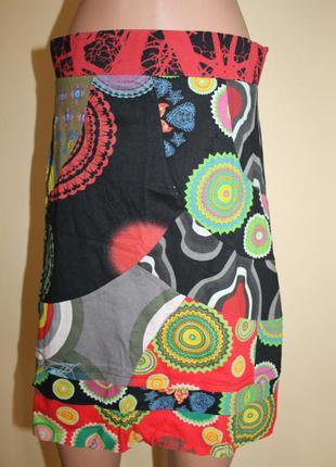 Дизайнерская юбка от desigual разм. l. made in india