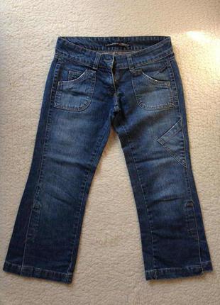 Актуальные бриджи / укороченные джинсы junker, практически новые, размер s