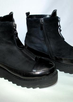 Зимние ботинки, полусапожки на платформе