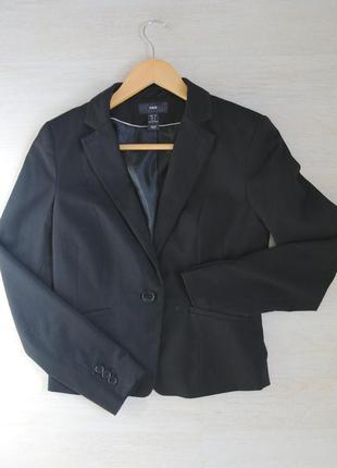 Пиджак h&m черный