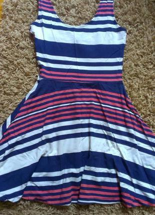 Актуальное полосатое платье atmoshere s-m
