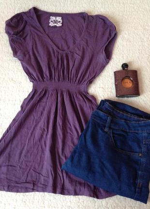 Фиолетовая туника из 100% органичного хлопка new look, очень хорошее качество