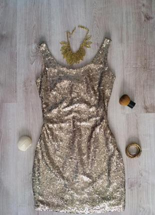 Блестящее платье с пайетками reserved