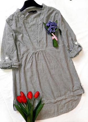 Рубашка-платье в полоску от vero moda