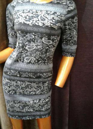 Красиве платтячко зі стильним принтом