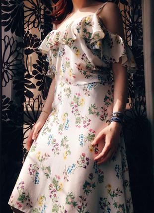 Шикарное платье со спущенными рукавами other stories, доставка бесплатная