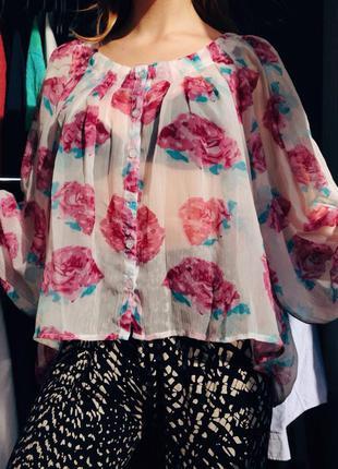 Актуальная блуза в стиле бохо, размер свободный