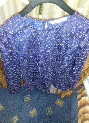 Блуза горошек звездочки элегантная франция легкая