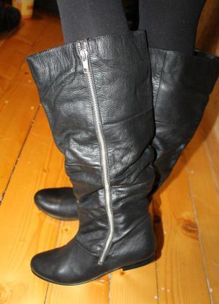 Новый завоз обуви сегодня! 39 и 40 кожа сапоги bon´a parte. широкое голенище