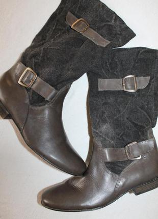 Новый завоз обуви сегодня! стильные сапоги 37 разм.  san marina. кожa