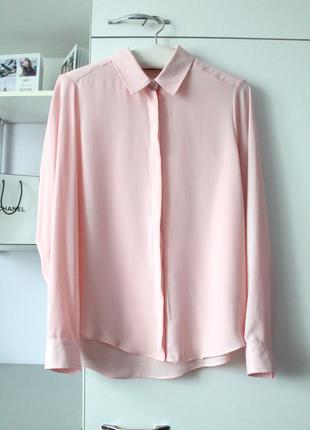 Нежно розовая шифоновая рубашка от atmosphere
