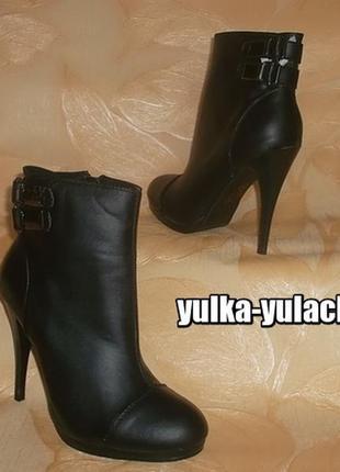 Изящные ботиночки на шпильке стелька 24 см.