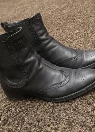 Кожанные ботинки geox