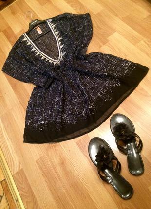 Шикарна накидка, пляжное платье