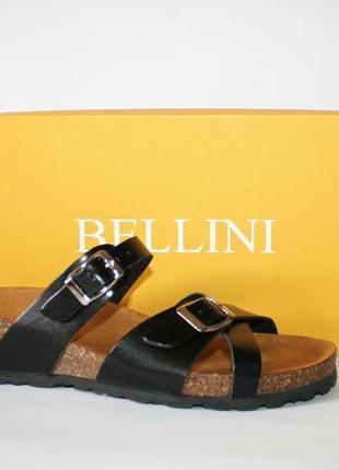 Шлепанцы bellini италия оригинал натуральная кожа 35 -37