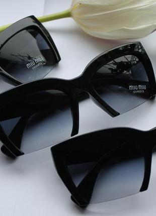 Новые модные солнцезащитные очки, черные